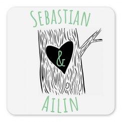 Sebastian & Ailin Heart Tree Magnet