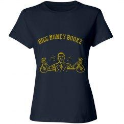 Women Bigg money Bookz design 1 shirt navy