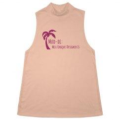 Sleeveless Pink Plum Palm Mud-di