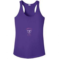 Metallic Trendy Gymnastics Girl