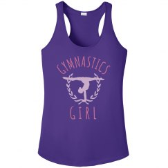 Metallic Trendy Gymnastics Girl