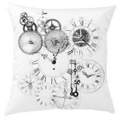 Steampunk Clocks Pillow