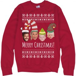 Your Faces Here Family Ugly Christmas Sweater