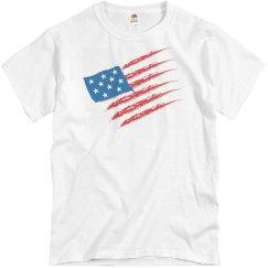 USA Flag - Unisex Fruit of the Loom Cotton Tee