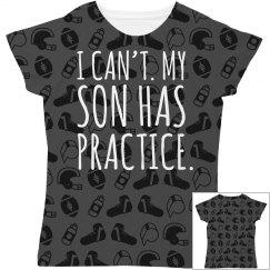 Son Has Practice Football Pattern