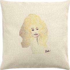 Dolly Parton Throw Pillow Cover