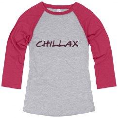 Chillax baseball tshirt