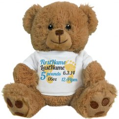 Birth announcement Teddy Bear