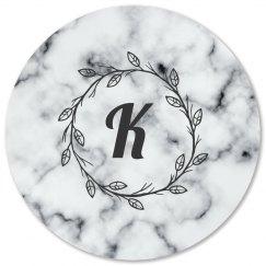Custom Initial Marble Print Coaster