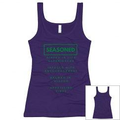Seasoned Woman Tank Black/Green