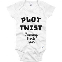 Pregnancy Announcement Baby Onesie Plot Twist