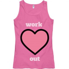 work out women's tank top