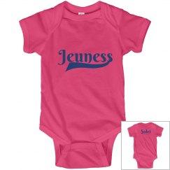 Jeuness Hot Pink Infant Onesies