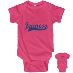 Jeuness Hot Pink Infant Onesies