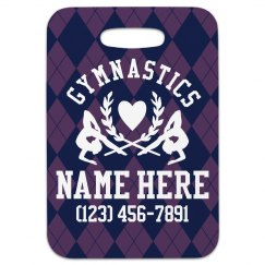 Custom Gymnastics Luggage Tag Gift