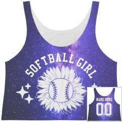 Softball Girl Space All Over Print