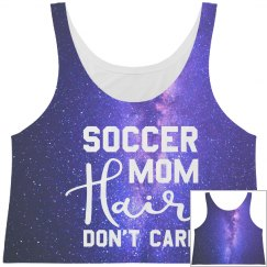 All Over Print Soccer Mom Hair Crop