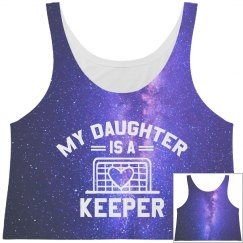 All Over Print Soccer Daughter Crop