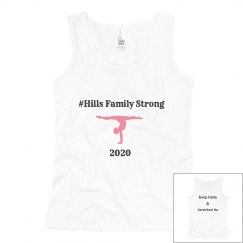hills family strong YOUTH tank white