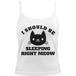 Sleeping Right Meow Kitty