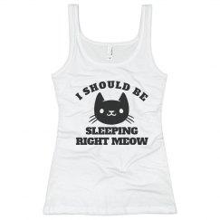 Sleeping Right Meow Kitty