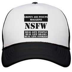 GROWN ASS PINUPS MAGAZINE NSFW TRUCKER HAT