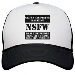 GROWN ASS PINUPS MAGAZINE NSFW TRUCKER HAT