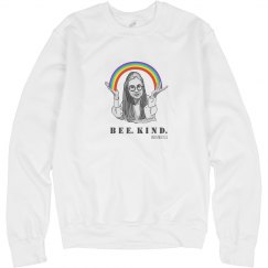 Bee Kind sweater rainbow