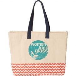 Women Kick Glass Boat Tote