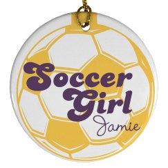 Soccer Girl Ornament