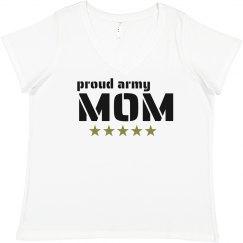 Proud Army Mom Plus Tee