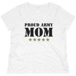 Proud Army Mom Plus Tee