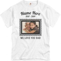 Custom Memorial Dad
