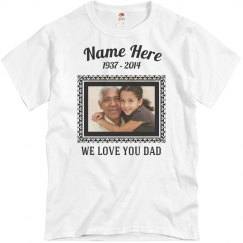 6afb6ada ... Basic Promo Jersey Tee · Custom Memorial Dad