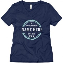 Custom Name & Date Scallop Memory Top