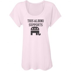 This Albino Supports Republicans- Womens T