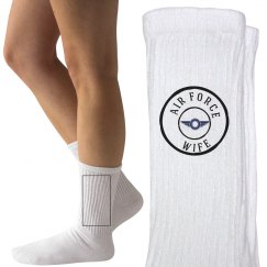 Air force wife socks