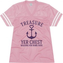 Breast Cancer Pirate Top