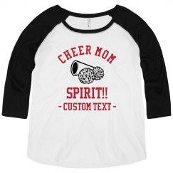 Custom Text Cheer Mom Spirit Shirt