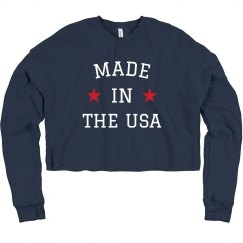 Made in the USA Comfy Crop Sweater