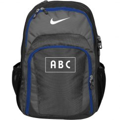 Custom Initials Nike Back Pack