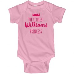 Custom Princess Baby Shower Onsie