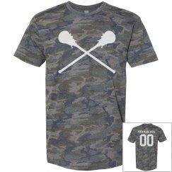 Personalized, Vintage, Camo Lacrosse Shirt