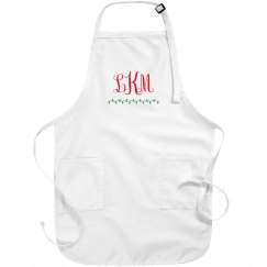Custom Monogram Christmas Apron