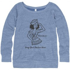 Ladies Bella's Slouchy Wideneck Sweatshirt