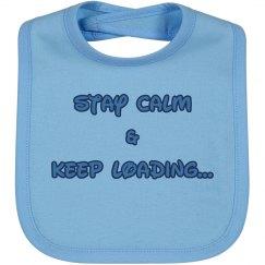 Stay Calm Boy Bib
