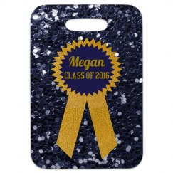 Navy & Gold Graduation Ribbon