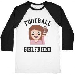 Emoji Football Girl Shirt