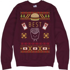 Burger And Fries Sweater BFF 1