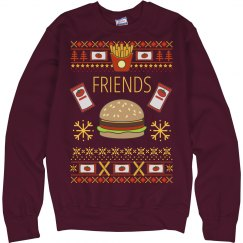 Burger & Fry Bff Ugly Sweater 2